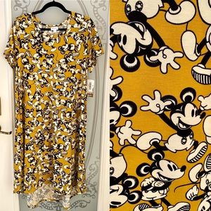 NEW! LuLaRoe Carly Mickey Mouse High-Low Dress